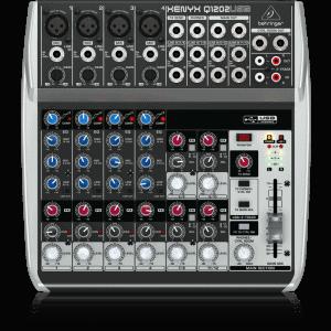 BEHRINGER MIXER Q1202 USB-0. BEHRINGER Mixer XENYX - Analog Mixer Q1202 USB