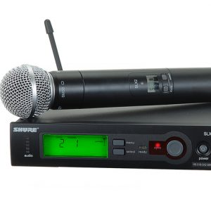 Shure SLX4 Microphone-0. Shure Wireless Microphone SLX24 - Handheld System Band
