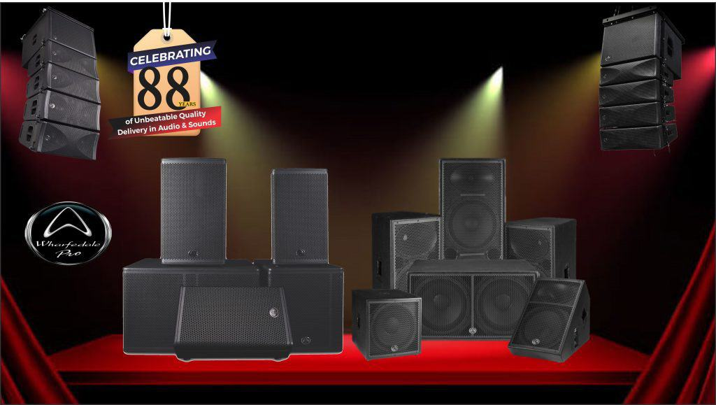 wharfedale pro celebrating 88 years of Unbeatable Quality Delivery in Audio & Sounds