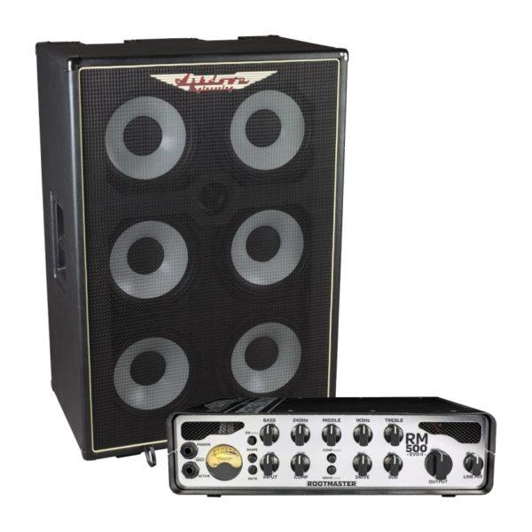 RM-610T-EVO II Bass Cabinet and RM-500-EVO-II-Head
