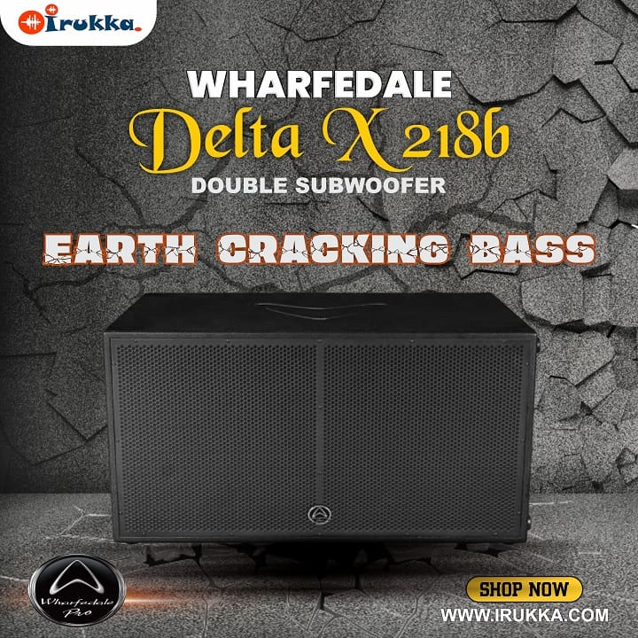 The Wharfedale double subwoofer. The Delta X 218b shop and buy on Irukka