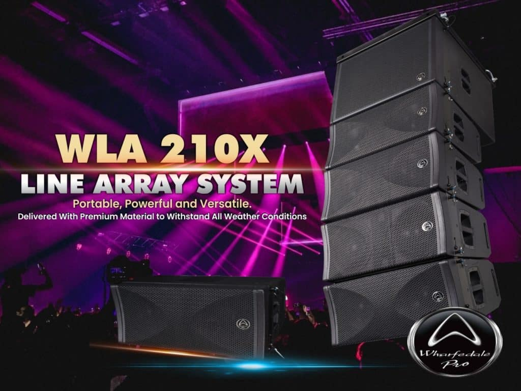 array for portability and convienience - wla 210x line array speakers