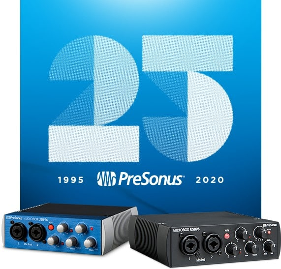 celebrating 25 years of PreSonus Audiobox 96