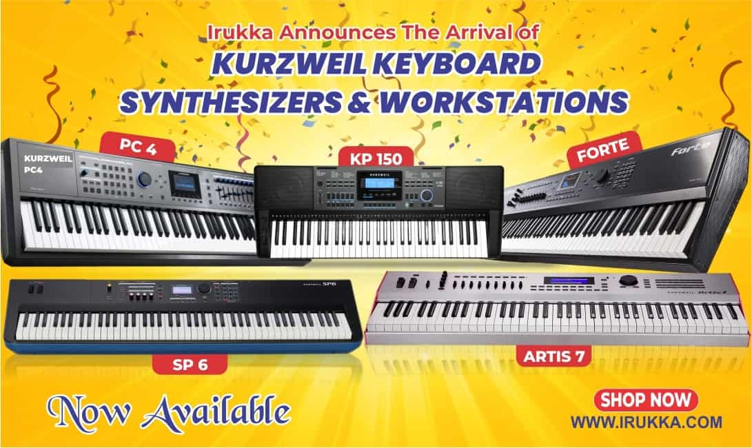 Irukka Announces The Arrival of Kurzweil Keyboard Synthesizers and Workstations