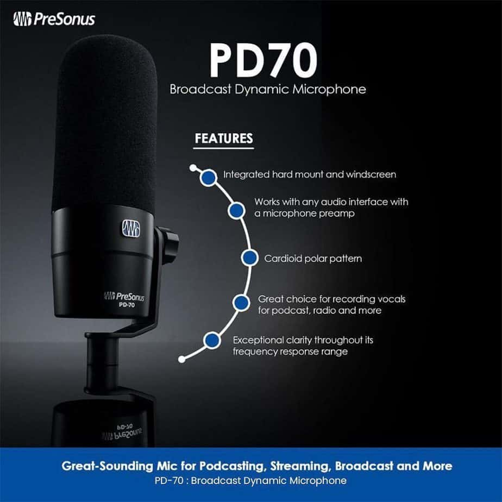 PreSonus PD 70 Shop Online on Irukka